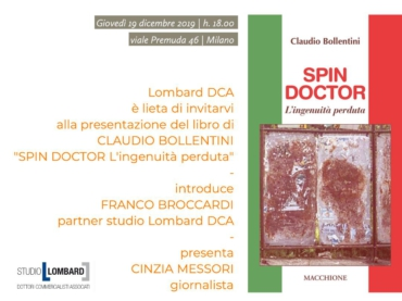Save the date: giovedì 19. H. 18.00